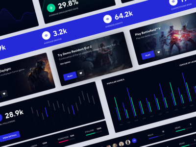 GameNite Free UI Kit Sketch