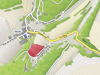 Land Map (rendering test) land design illustration carte map vector land map city street cartographisme