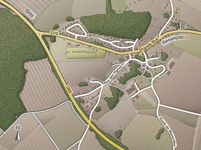 Land Map 2 (experimental rendering) cartographisme map design real estate illustration land map city carte cartographie