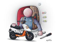 12 mini illustrations : vector rendering
