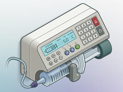 Syringe pump healthcare illustrator illustration medic medical material vectorial vector syringe pump