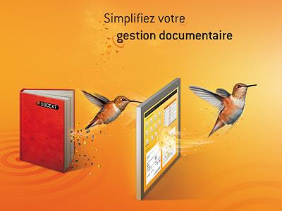 Colibri Brochure brochure orange yellow bird hummingbird effect