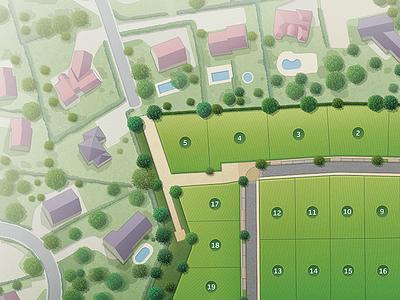 Housing estate map 15 vector tree plan de lotissement map lotissement illustration housing estate city cartographisme carte