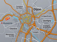City Map (Dijon, Burgundy, France)