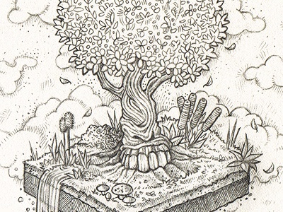 Magic tree sketch