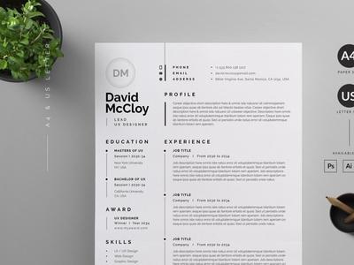 Resume   CV Template curriculum vitae cv template cv resume cv design cv clean cv resume template resume design resume clean resume cv resume