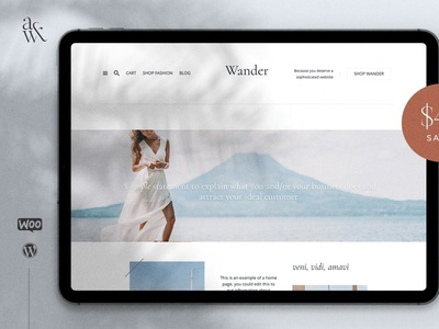 Wander WordPress Blog  Shop Theme