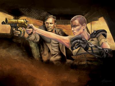 Mad Max Fury Road digital art digital painting mad max pop culture procreate portrait photoshop illustration