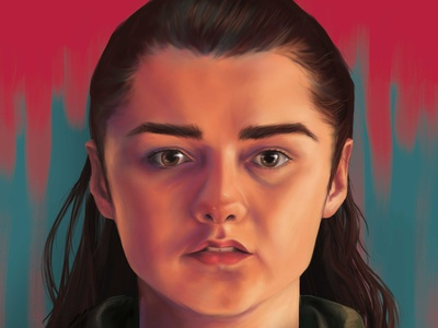 Arya portrait photoshop illustration