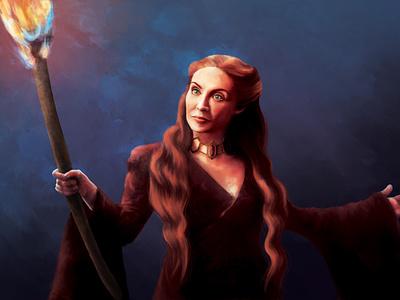 Melisandre portrait photoshop illustration