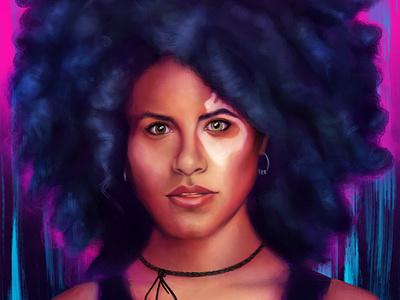 Domino procreate portrait photoshop illustration