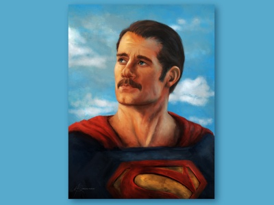 The Mustache Cut procreate portrait illustration
