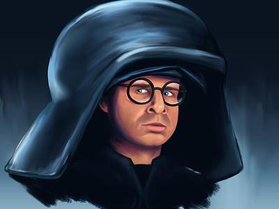 Dark Helmet photoshop portrait illustration