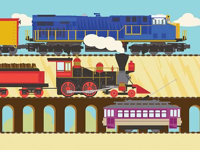 Train Transportation Illustration travel design vector illustration