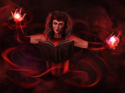 Chaos magic digital art pop culture digital painting procreate illustration portrait