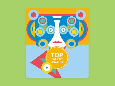 Top talent award illustration #2 charachter illustration branding