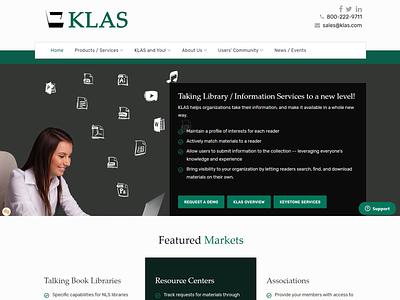 KLAS - Keystone Systems accessible website design web responsive project lead design joomla