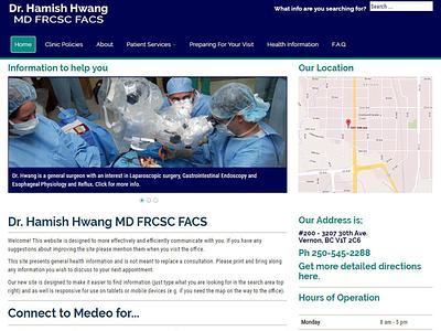 Dr. Hamish Hwang - Website website website design project lead responsive web ux joomla design