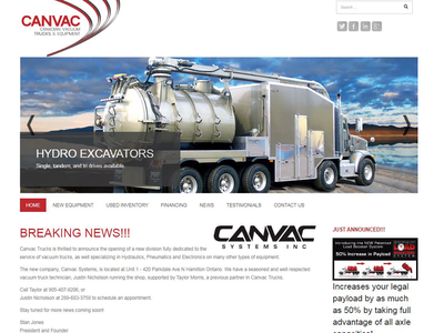 Canvac - Website website website design responsive project lead web design joomla