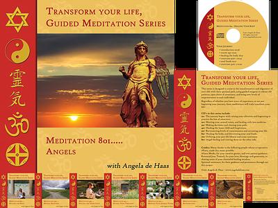 Angela de Haas - Meditation CD Set cd design cd cover cd packaging print design print branding project lead design