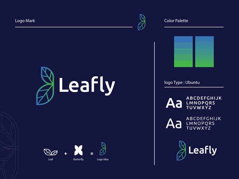 Leafly logo symbol monogram logotype modern logo interface creative business corporate abstract company gradient recent logo logo custom concept brand identity brand