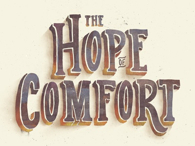 The Hope of Comfort title typography hope comfort texture