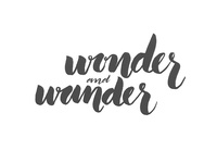 Wonder and Wander