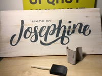 Made by Josephine Sign