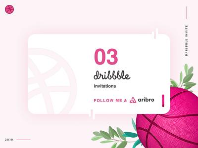 3 Dribbble Invites Giveaway agency branding agency logo agency aribro morocco infographie fes fes web development web designer web deisgn webdesign web design website uiux ui  ux logo graphic design dribbble invites ui