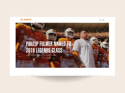 Tennesse Athletics Homepage Concept