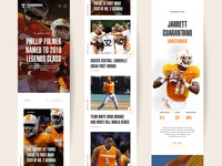 Tennesse Athletics Homepage Concept Mobile