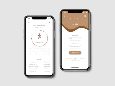 Daily UI 007 Settings Frame mobile ui mobile app ui typography minimal design