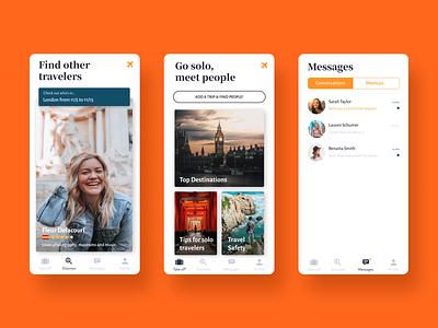 Hobnob, a unique Travel App clean style product design tool mobile ui ux travel app mobile app design branding
