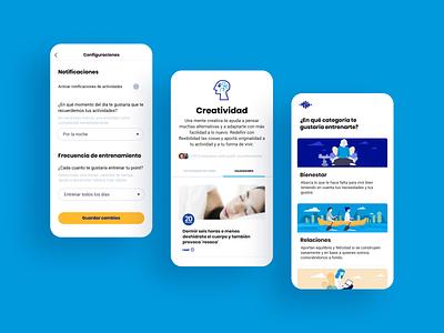 Brainpoints: Productivity and Wellness App teamwork branding logo productivity wellness health experience design sprint ux ui app flat vector illustration
