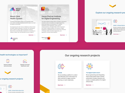 HPI∙MS Identity landing page website user testing experience ux sprint design sprint ui
