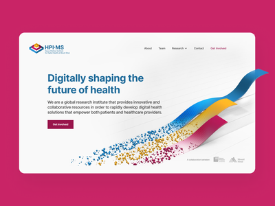 HPI∙MS Identity sprint design sprint landing page website user experience experience ux ui