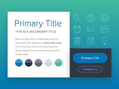 Style Tile Option visual design ui headline color palette icons button styles style tile