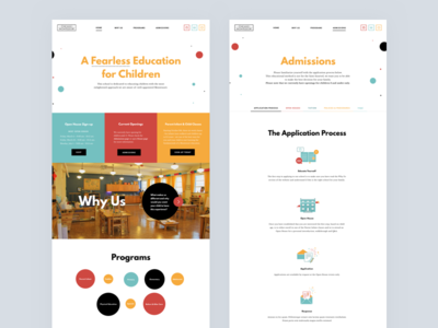 Desktop UI icons ui circles montessori illustration home page education dots colorful children chicago alternative