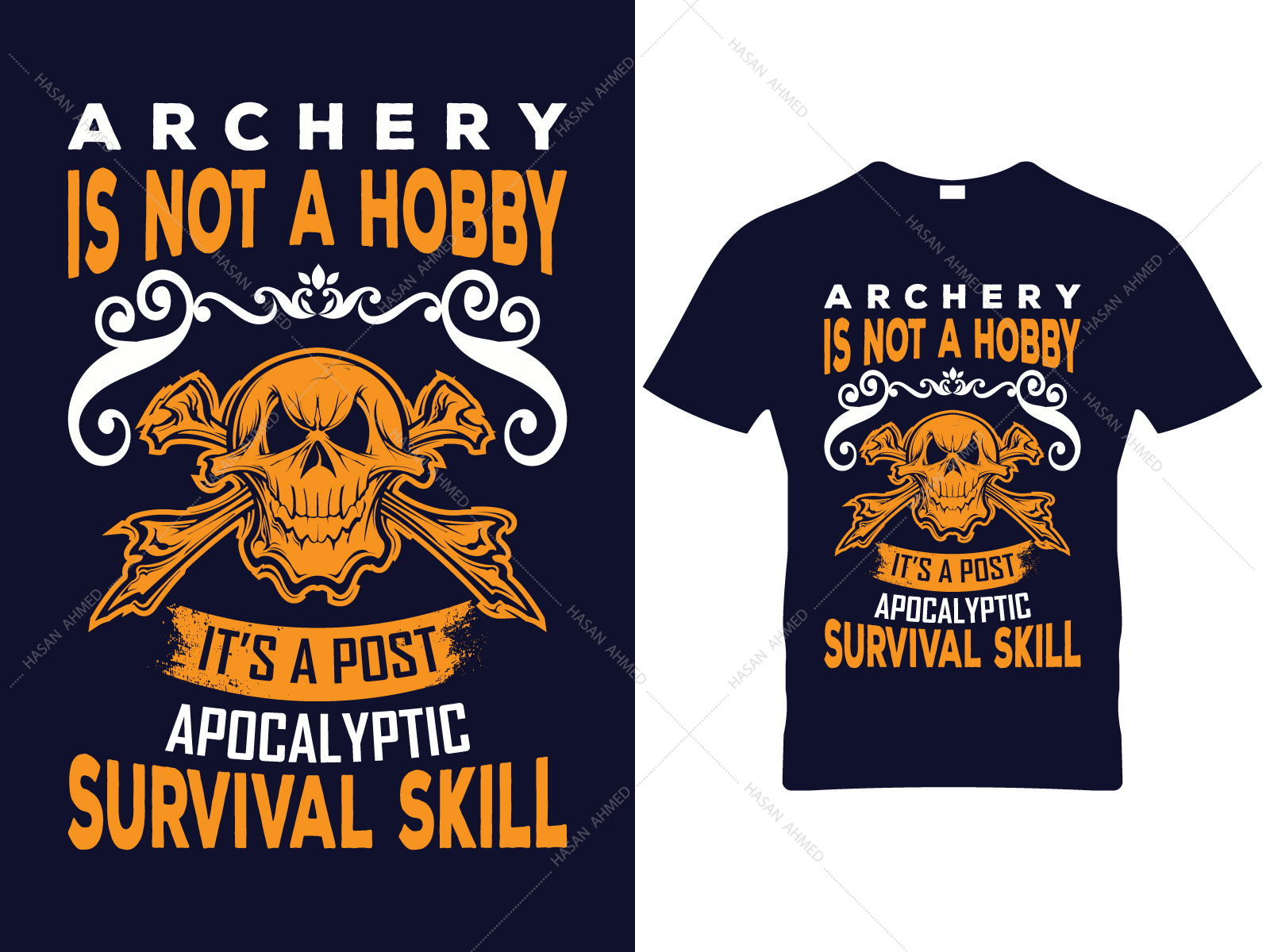 Archery Vector Print T Shirt Design By Hasan Ahmed On Dribbble