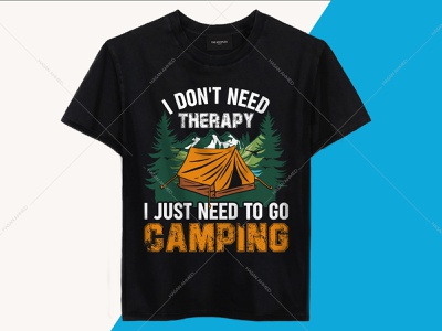I Don't Need Therapy I Just Need To Go Camping T-shirt Design uiux band t-shirts t-shirts t-shirt design t-shirt design ideas t-shirt printing branding design t-shirts funny mountain t-shirt design hiking t-shirt design travelling t-shirt design camping t-shirt design avengers t-shirt happy camper shirt camping logos camping quotes safari shirt travel quotes