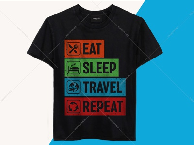 Eat Sleep Travel Repeat Travelling T-shirt Design mountain t-shirt design typography landingpage logo design travelling t-shirt design camping t-shirt design avengers t-shirt camping quotes adventure quotes travel quotes band t-shirts t-shirts t-shirt design ideas t-shirt printing branding design t-shirts funny funny shirts