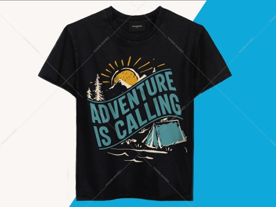 Adventure is Calling Camping Travelling T-shirts Design uiux logo design illustration camping t-shirt design avengers t-shirt happy camper shirt safari shirt adventure quotes travel quotes band t-shirts t-shirts t-shirt design t-shirt design ideas t-shirt printing branding design t-shirts funny funny shirts