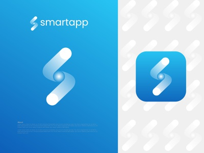 Smartapp logo design - S Modern Letter Logo Mark abstract logo creator logo business logo modern logo company logo logodesign logo designer creative logo app logo s letter logo
