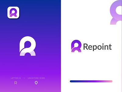Repoint logo design - R  Modern Letter Logo Mark logo design logo maker business logo logo company logo modern logo logo designer creative logo app logo letter r logo r logo