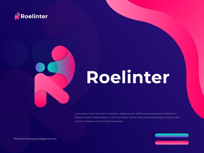 Roelinter logo design -  R Modern Letter Logo Mark logo logo maker abstract business logo logo designer modern logo company logo creative logo app logo r logo r letter logo r text logo