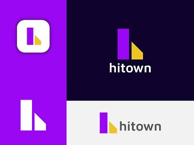 Hitown Logo Design, H Modern Logo Mark. brand identity h logo design best dribble shot trendy abstract company logo creative logo logodesign logo modern logo branding logo designer branding concept app logo