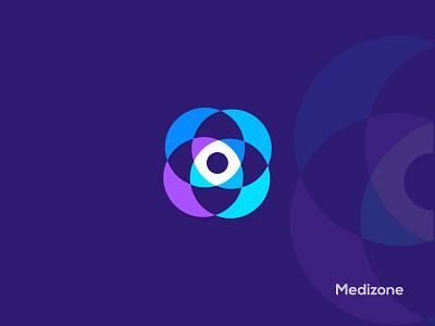 Medizone logo design branding graphic design ui illustration design creative logo abstract logo design modern logo app logo logo designer logo