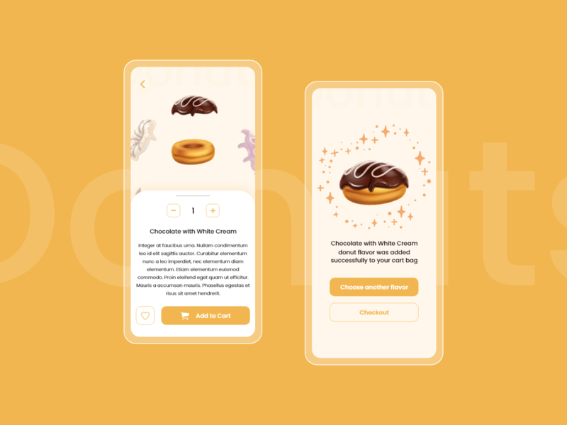 Donuts Application ios app mobile app uichallenge dailyuidesign mobile design mobile app design mobile ui ios ios app design donuts uxdesign dailyui adobexd design ux ui