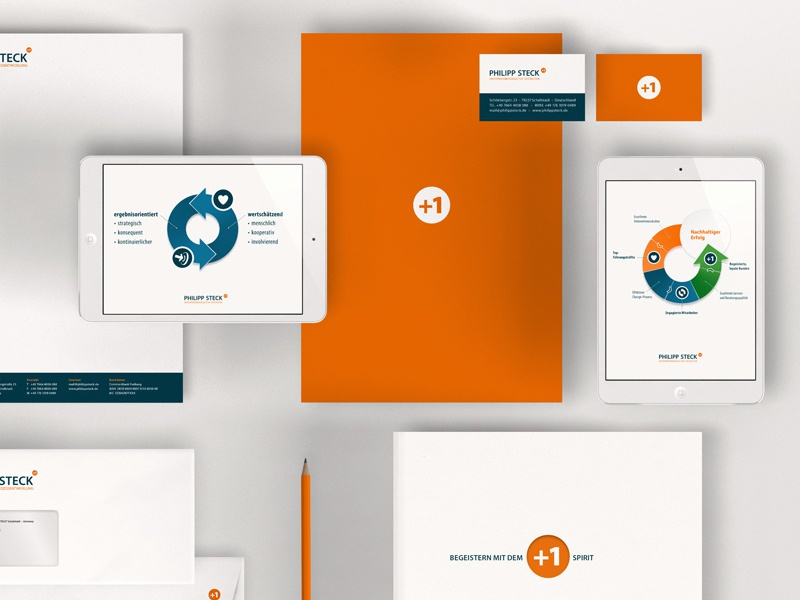 Philipp Steck, Print Media corporate design redesign cards graphics