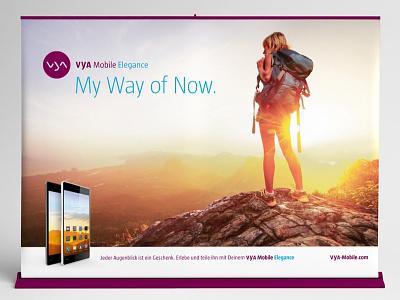 VYA Mobile Elegance, Campaign & Corporate Design corporate design logo design campaign advertising
